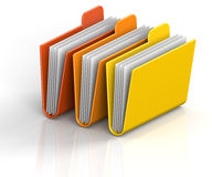 Archive Folders. 3D render illustration of archive folders Stock Images
