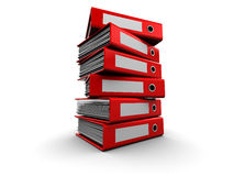 Archive Folders Stack Stock Photos