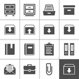 Archive icons. Archive icon set. Simplus series. Each icon is a single object (ideal for web and app icons Royalty Free Stock Image