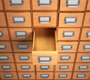 archive leeren Sie das Fach für archivalische Dokumente illustrati 3d Lizenzfreie Stockbilder