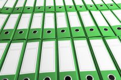 Archive with many binders on shelf Royalty Free Stock Image