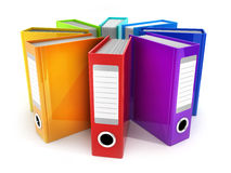 Archive many files. On white background. 3d illustration Stock Image