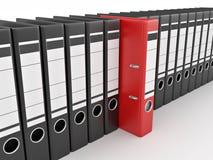 Archive. Many folders on white isolated background Stock Photos