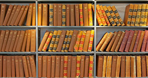 Archive of old probate books. In a library Royalty Free Stock Photo