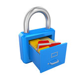 Archive Padlock. On white background. 3D render Royalty Free Stock Images