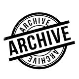 Archive rubber stamp Royalty Free Stock Photography