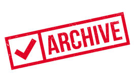 Archive rubber stamp Stock Image