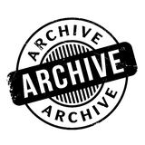 Archive rubber stamp Royalty Free Stock Photo