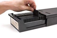 Archive slide film in box Stock Photos