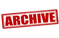 Archive. Stamp with word archive inside,  illustration Royalty Free Stock Image