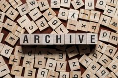 Archive word concept royalty free stock photography