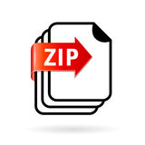 Archive zip file icon. Archive zip file vector icon Stock Photography
