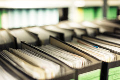 Archived Folders. Lots of archived folders in a company`s basement Stock Photos