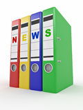 Archiveof news. Many folders. 3d Royalty Free Stock Images