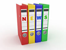 Archiveof news. Many folders. 3d Royalty Free Stock Photos