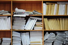 Archives in chancery.Russia. Structured documents in archives is so convenient royalty free stock photos