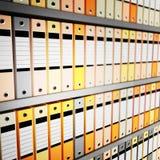 Archives de dépliant photographie stock