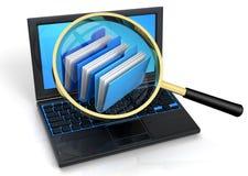 Archives de recherche Images stock