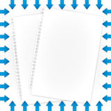 Archives documents. And arrows borders Royalty Free Stock Photography