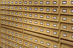 Archives are in a library Stock Photography
