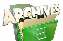 Archives Old Records Data File Folders Cabinet. History Stock Photos