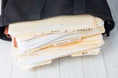 Archivi di contabilità di piccola impresa immagine stock