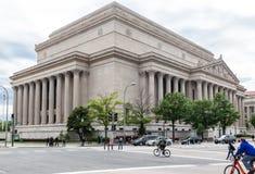 Archivi nazionali che costruiscono Washington DC Immagini Stock