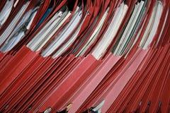 Archivi rossi Immagine Stock