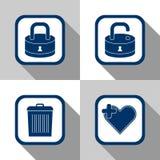 Archivi stabiliti dell'icona Immagine Stock