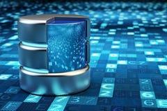 Archiviazione di dati, computazione della nuvola, server di dati della rete e concetto a distanza di tecnologie informatiche Fotografie Stock Libere da Diritti