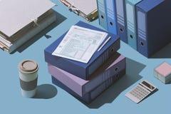 Archivierung der 1040 Steuererkl?rungsform lizenzfreie abbildung