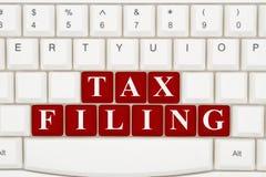 Archivierung Ihre Steuern Online lizenzfreie stockbilder