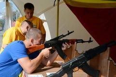 Archivierung ordnet TRP an, das den Schlag auf dem Poklonnaya-Hügel schießt stockfotos