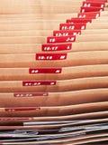 Archivierungsdokumente mit alphabetischem Stockfotos