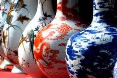 archivio cinese del vaso della porcellana Fotografie Stock Libere da Diritti