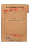 Archivio confidenziale top-secret Fotografia Stock