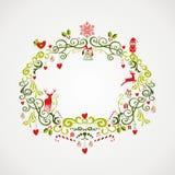 Archivio d'annata di progettazione EPS10 del vischio degli elementi di Natale. Fotografia Stock Libera da Diritti