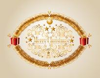 Archivio del fondo EPS10 del vischio di Buon Natale. Fotografia Stock