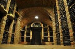 Archivio del vino Fotografia Stock