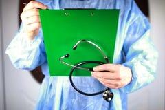 Archivio dello stetoscopio del cardiologo di medico Fotografia Stock Libera da Diritti