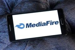 Archivio di MediaFire che ospita logo del sito Web immagini stock libere da diritti