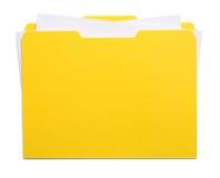 Archivio e carte gialli Fotografie Stock Libere da Diritti