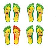 Archivio sorridente giallo verde di vettore ENV del piede da otto piedi dello zombie illustrazione vettoriale