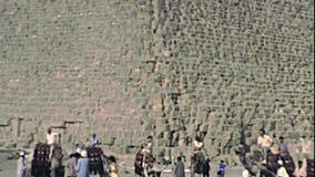 Archivistische Grote Giza-Piramide van Valleitempel stock footage