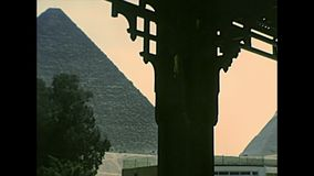 Archivistische Grote Giza-Piramide van Valleitempel stock video