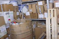 Archivo de papel en sótano Foto de archivo libre de regalías