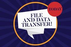 Archivo de texto de la escritura y transferencia de datos Información de transferencia del significado del concepto en línea por  libre illustration