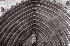 Archivolts. Of the church of Saint John in Aranda de Duero Royalty Free Stock Image
