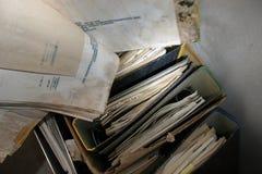Archivos de la descomposición foto de archivo libre de regalías