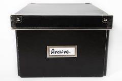 archiwum czarny pudełka frontowy widok Zdjęcia Stock